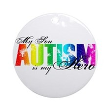 My Son My Hero - Autism Ornament (Round)