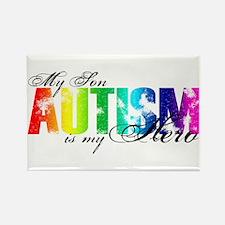 My Son My Hero - Autism Rectangle Magnet