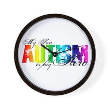 My Son My Hero - Autism Wall Clock