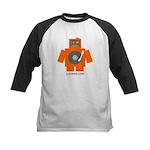 Robot DJ Kids Baseball Jersey