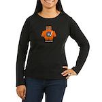 Robot DJ Women's Long Sleeve Dark T-Shirt