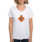 Robot DJ Women's V-Neck T-Shirt
