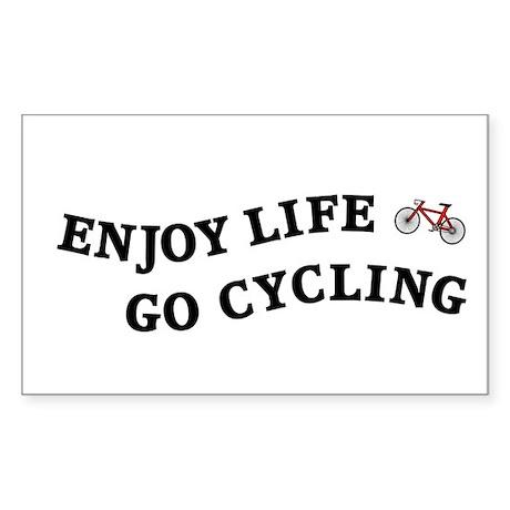 Enjoy Life Go Cycling Sticker (Rectangle)