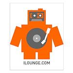Robot DJ Small Poster