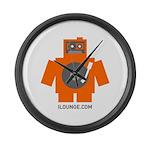 Robot DJ Large Wall Clock
