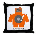 Robot DJ Throw Pillow