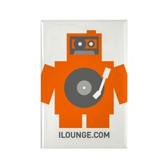 Robot DJ Rectangle Magnet