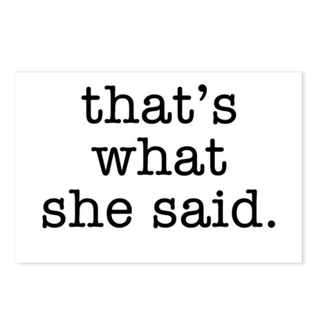 """That's What She Said"" Postcards (Package of 8)"