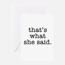 """That's What She Said"" Greeting Cards (Pk of 20)"