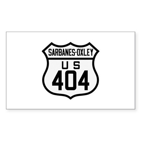Sarbanes Oxley (Sox 404) Classic Sticker (Rect)