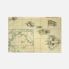 Antique Hawaii Map Rectangle Magnet