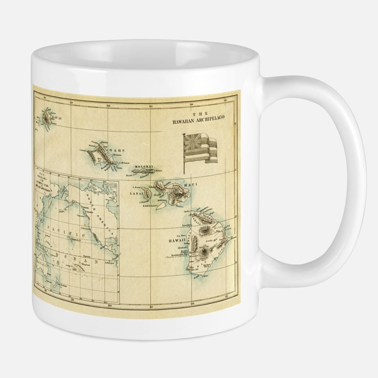 Antique Hawaii Map Mug