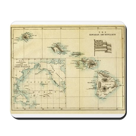 Antique Hawaii Map Mousepad