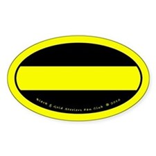 Black and Gold Steelers Fan Club Decal (oval)