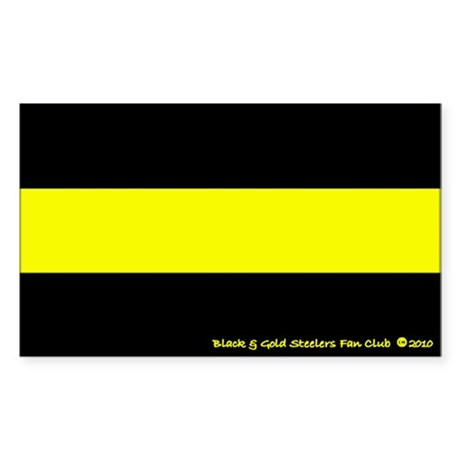 Black and Gold Steelers Fan Club Decal (rectangle)