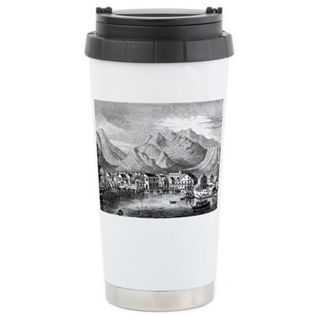 Old Honolulu Harbor Stainless Steel Travel Mug