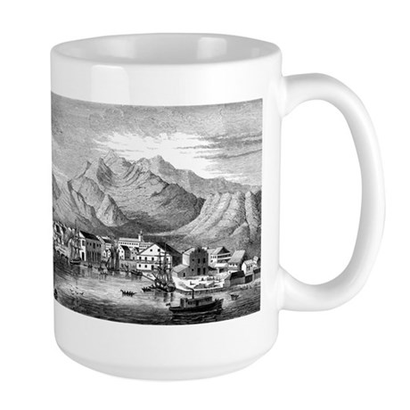 Old Honolulu Harbor Large Mug