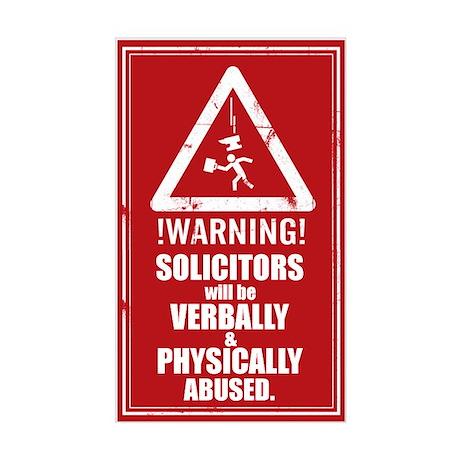 No Solicitors Sticker