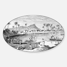 Old Waikiki Sticker (Oval)