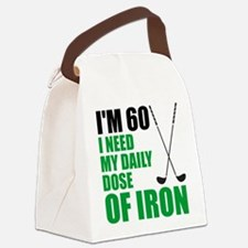 60 Daily Dose Of Iron Canvas Lunch Bag