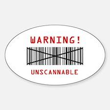 Unscannable Sticker (Oval)