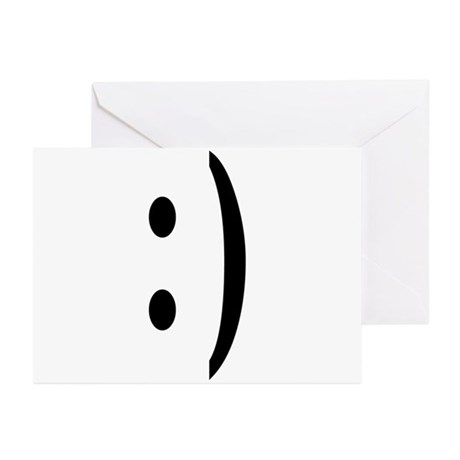 Chat Smile Face Greeting Cards (Pk of 10)