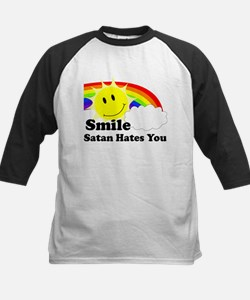 Smile Satan Hates You Kids Baseball Jersey