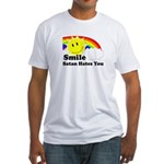 Smile Satan Hates You Fitted T-Shirt