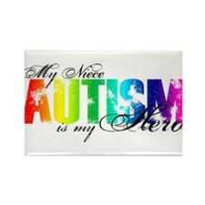 My Niece My Hero - Autism Rectangle Magnet