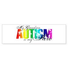 My Grandson My Hero - Autism Bumper Bumper Sticker