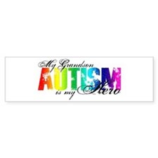 My Grandson My Hero - Autism Car Sticker