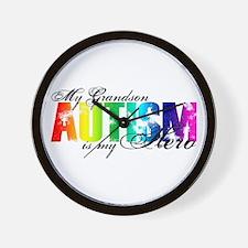 My Grandson My Hero - Autism Wall Clock