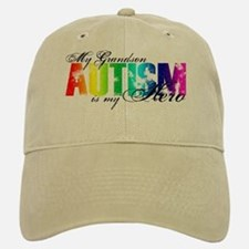 My Grandson My Hero - Autism Baseball Baseball Cap