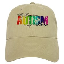 My Grandson My Hero - Autism Baseball Cap