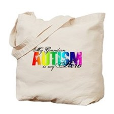 My Grandson My Hero - Autism Tote Bag