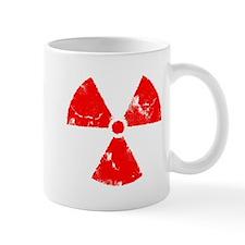 Distressed Red Radiation Symb Mug