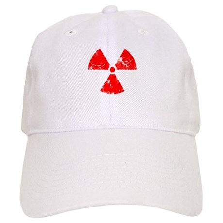 Distressed Red Radiation Symb Cap