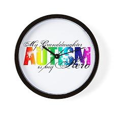 My Granddaughter My Hero - Autism Wall Clock