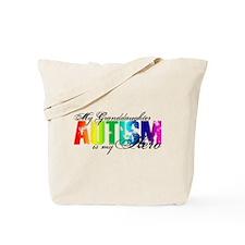 My Granddaughter My Hero - Autism Tote Bag