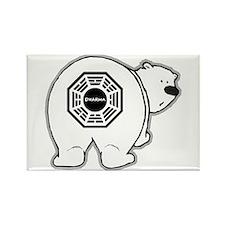 Dharma Bear Rectangle Magnet