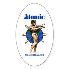 Atomic Oval Decal