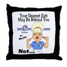 May Be Behind You? Throw Pillow