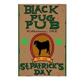 Black pug Postcards