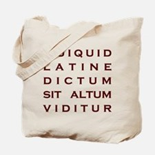 Anything Sounds Profound In L Tote Bag
