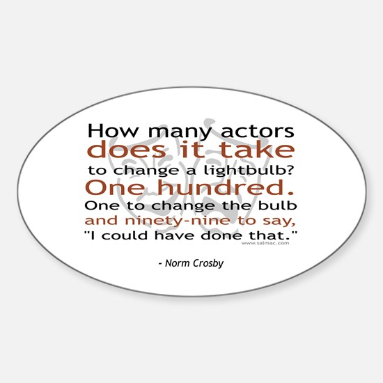 Norm Crosby Actor Joke Oval Decal