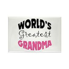 World's Greatest Grandma Rectangle Magnet
