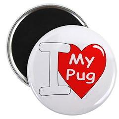I Love My Pug Magnet