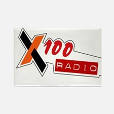 Funny Online radio station Rectangle Magnet