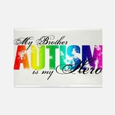 My Brother My Hero - Autism Rectangle Magnet
