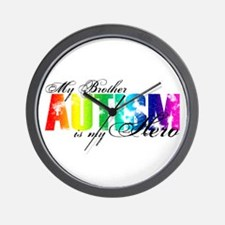 My Brother My Hero - Autism Wall Clock